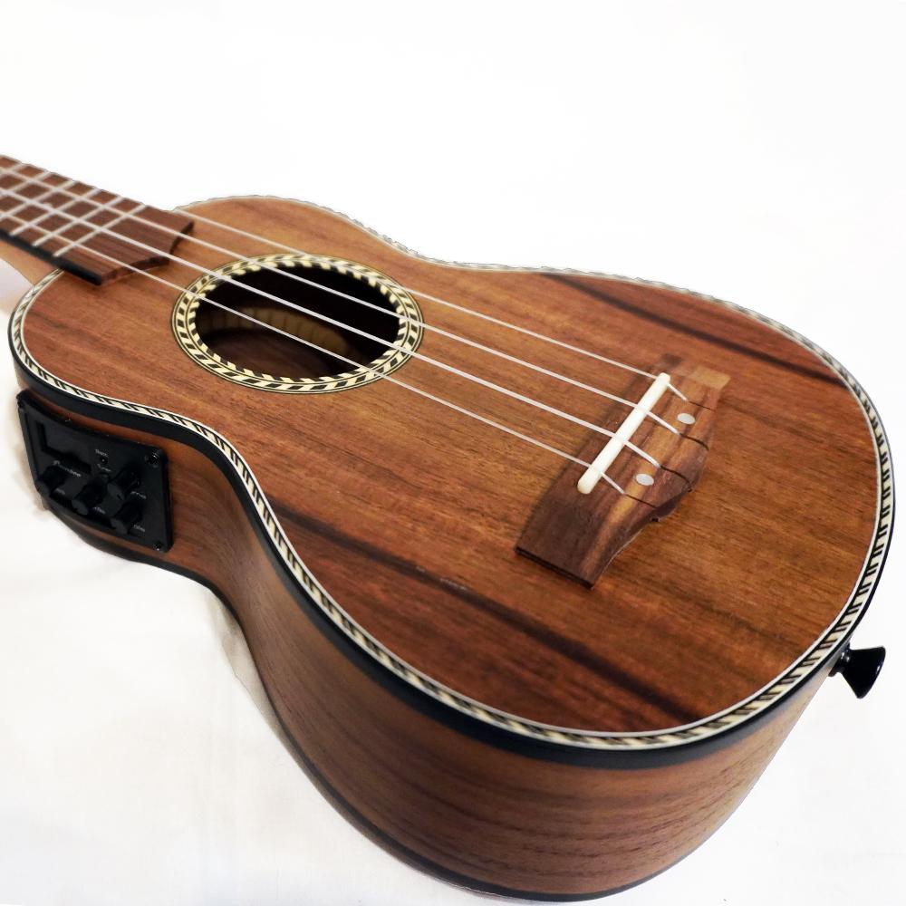Bamboo Ukulele - Koa ソプラノウクレレ BU-21CCQ(チューナ付きピックアップ・ソフトケース付属)《e》【メーカー直送品・1〜2営業日でお届け可能です※メーカー休業日除く】
