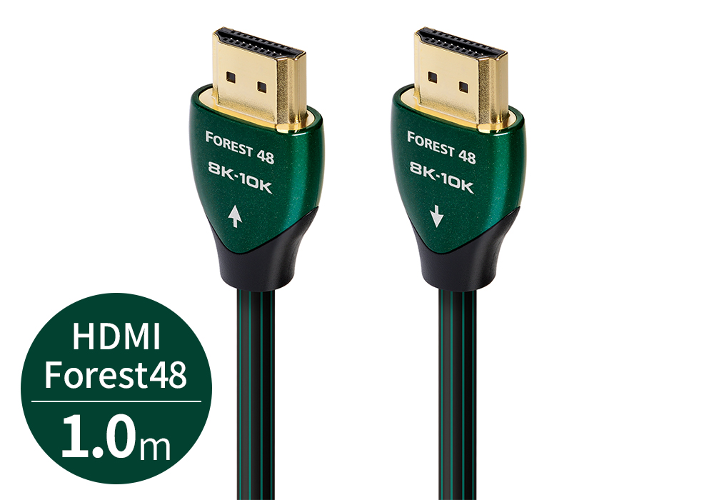 audioquest - HDMI Forest48/1.0m(FOR48G/1M)(48Gbps・8K対応・HDMIケーブル)《e》【在庫有り即納】