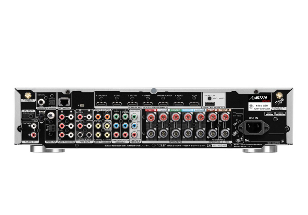 AIRBOW - NR1710 Special/シルバーゴールド コンプリートパッケージ(サラウンドマルチチャンネル・AVアンプ)《e》【完売】