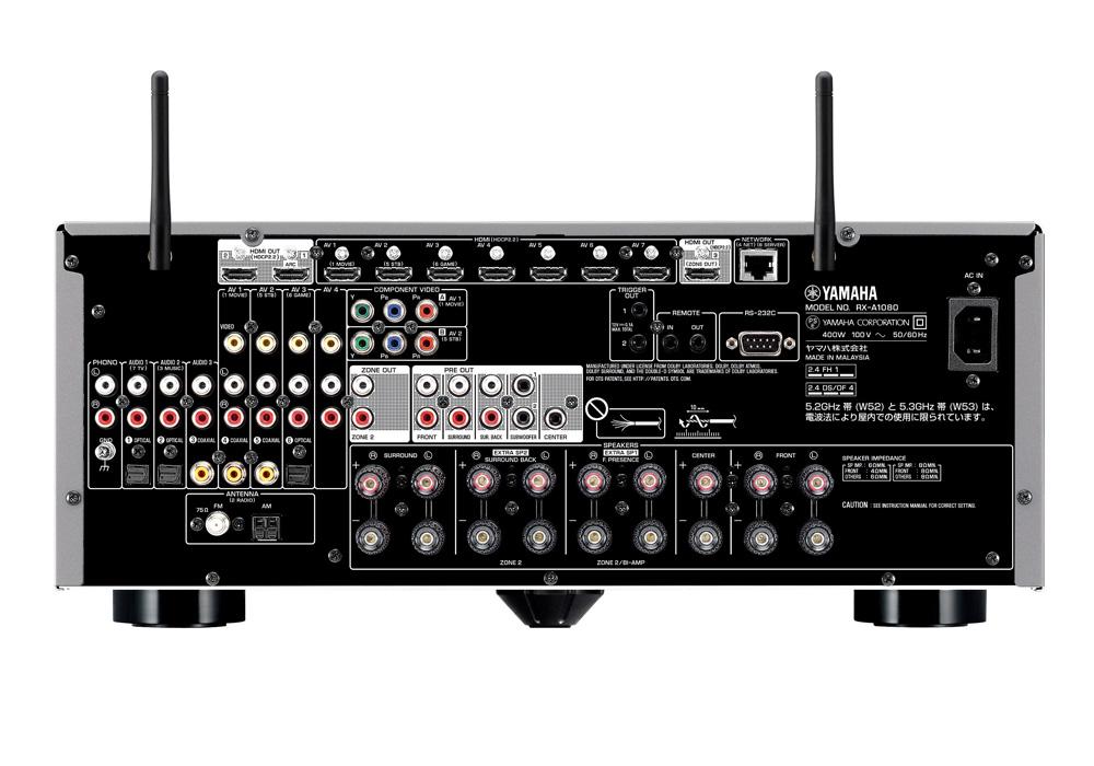 YAMAHA - RX-A1080-B/ブラック(7.1ch・AVレシーバー)《e》【在庫有り即納】