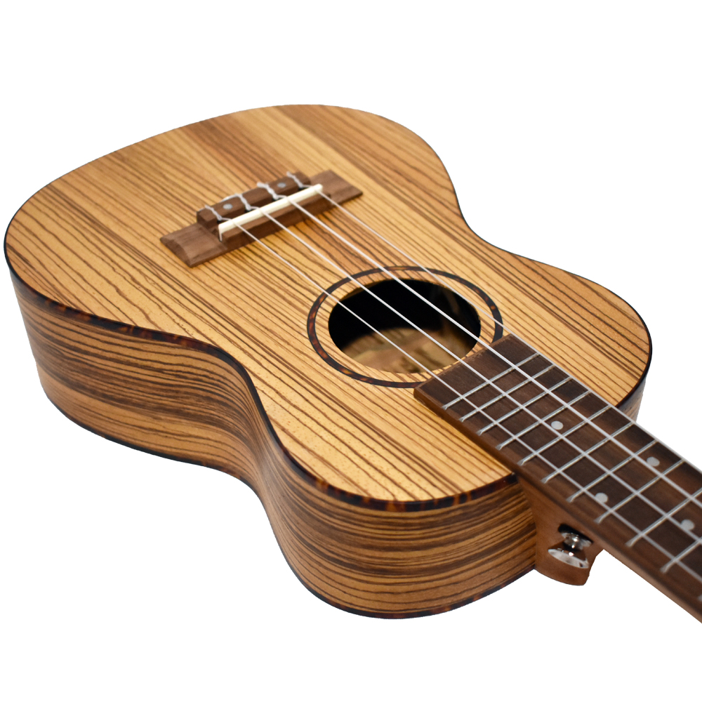 Bamboo Ukulele - Zebrano コンサートウクレレ BU-23CBQ(チューナ付きピックアップ・ソフトケース付属)《e》【メーカー直送品・1〜2営業日でお届け可能です※メーカー休業日除く】