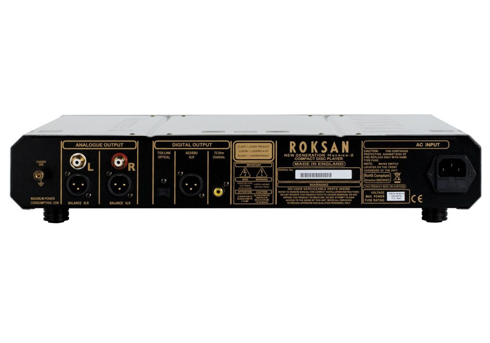 ROKSAN - Caspian CD PLAYER/シルバー(CDプレーヤー)《e》【メーカー直送品(代引不可)・納期を確認後、ご連絡いたします】