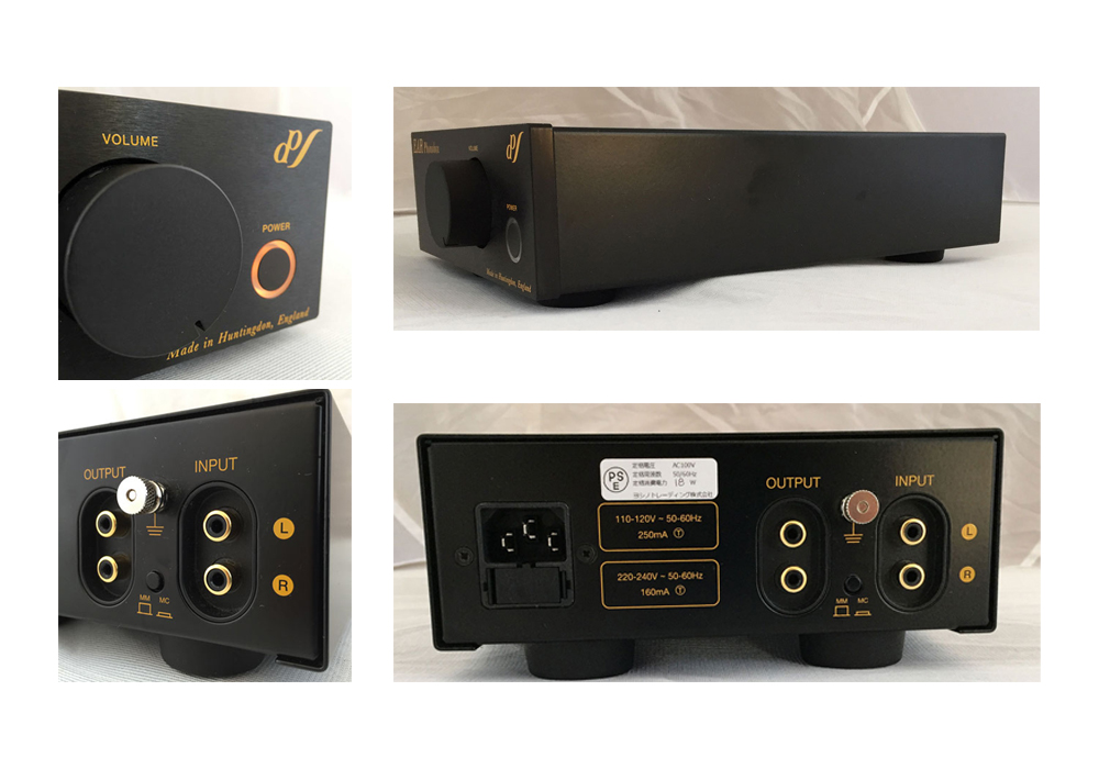 EAR - Phonobox MM/MC Black/40Ω仕様(MM/MC対応・管球式フォノイコライザーアンプ)《e》【在庫有り即納】
