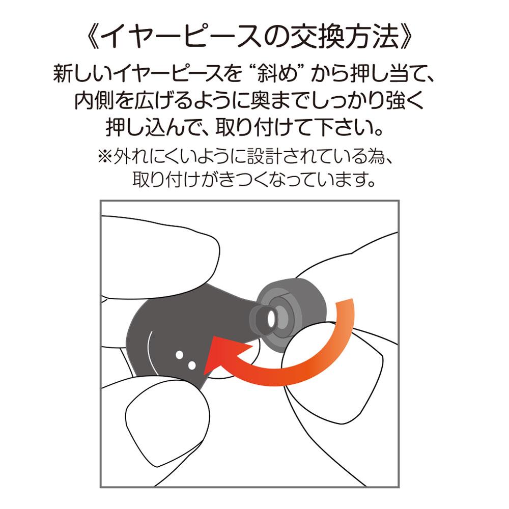 FunSounds - AirAria専用交換用イヤーピース・1サイズ入り(極小/小/中/大より1つご選択)《e》【在庫有り即納】