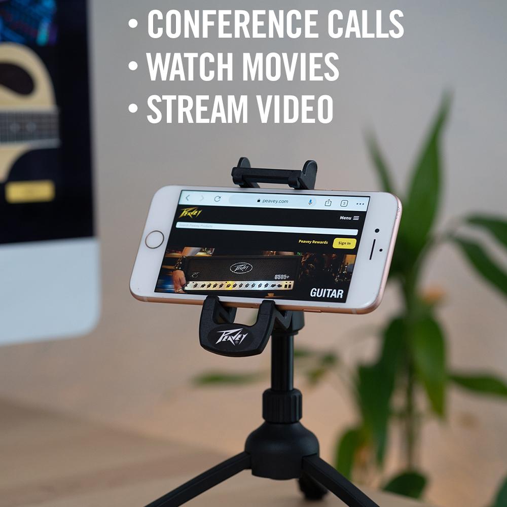 Peavey - Smartphone Desktop Tripod Stand(卓上スマートフォンスタンド)《e》【メーカー直送品・1〜2営業日でお届け可能です※メーカー休業日除く】