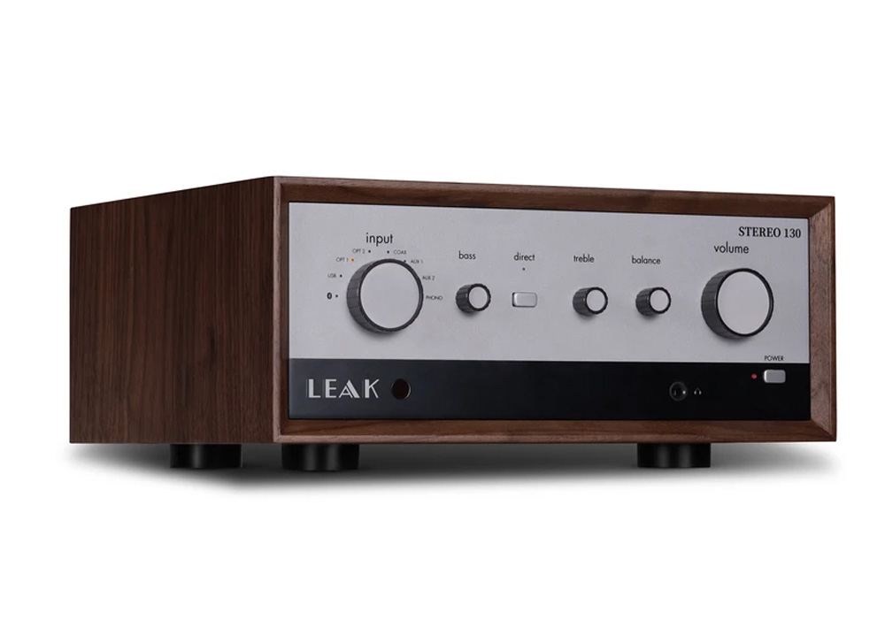 LEAK Audio - Stereo 130(ウォールナット)(USB/DAC内蔵・プリメインアンプ)《e》【在庫有り即納】