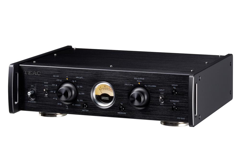 TEAC - PE-505-B/ブラック(MC/MM対応フォノイコライザーアンプ)《e》【在庫有り即納】