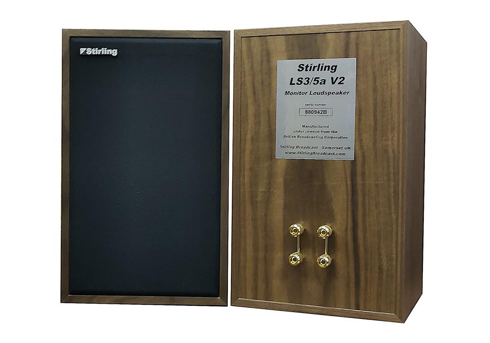 Stirling-Broadcast - LS3/5a-V2/ウォールナット(ペア)(Scanspeak製旧ツィーター仕様・新品5ペア限定)《e》【在庫限り・在庫有り即納】