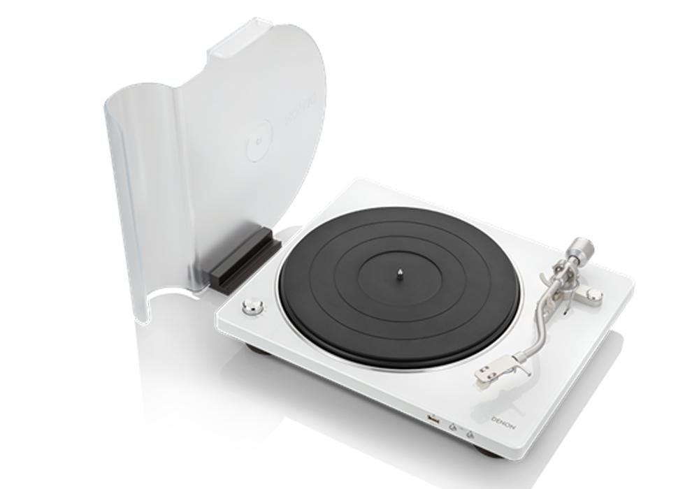 DENON - DP-450USB/ホワイト (DP450USBWTEM)(USBメモリー録音対応・ベルトドライブ方式・レコードプレーヤー)《e》【在庫有り即納】