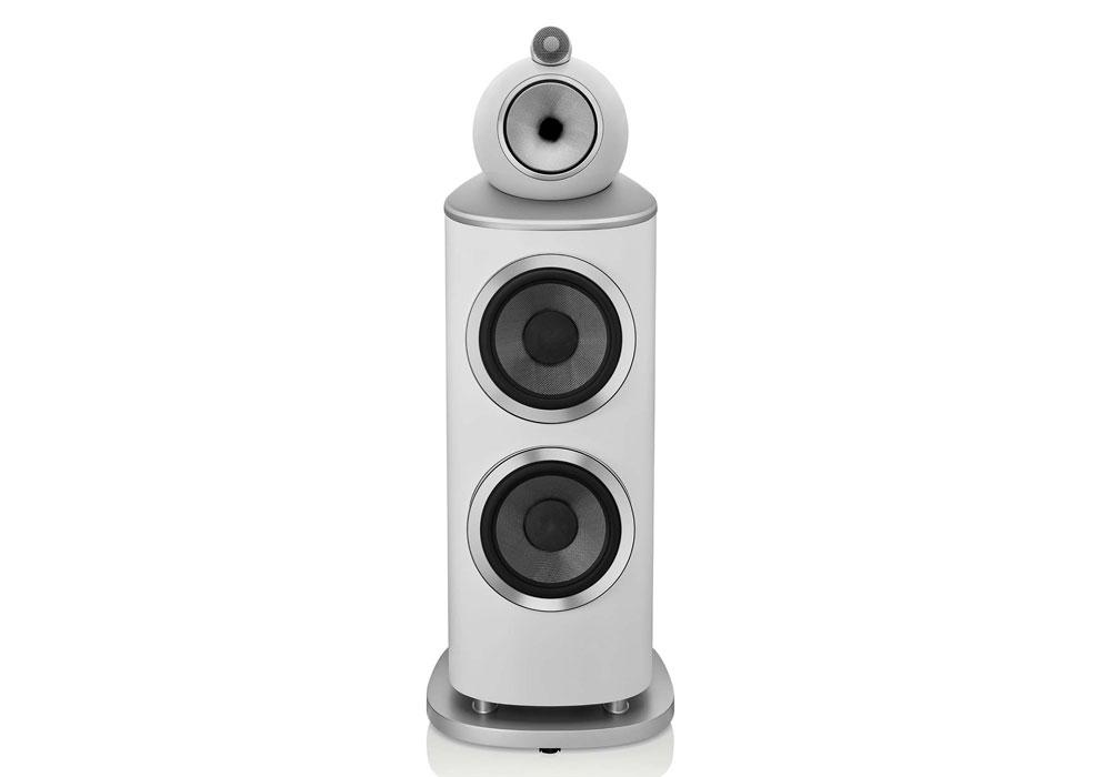 B&W - 801D4(サテン・ホワイト)(フロアスタンドスピーカー・1本){大型DM}《e》【受注生産品・納期2ヶ月程かかります】