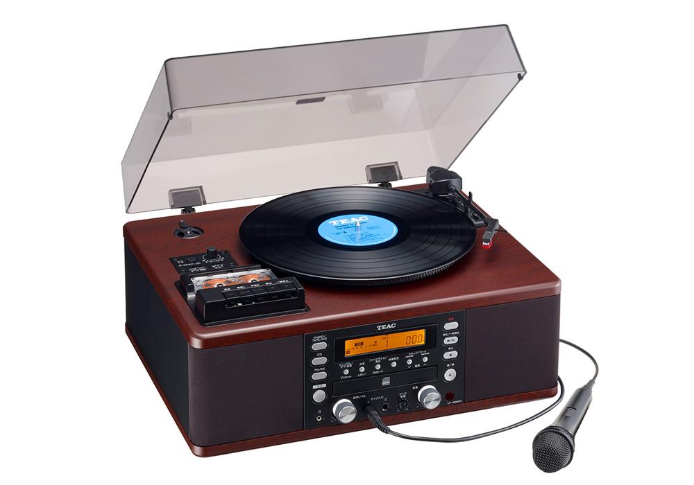 TEAC - LP-R560K(カラオケ機能搭載・ターンテーブル/カセットプレーヤー付CDレコーダー)《e》【在庫有り即納】