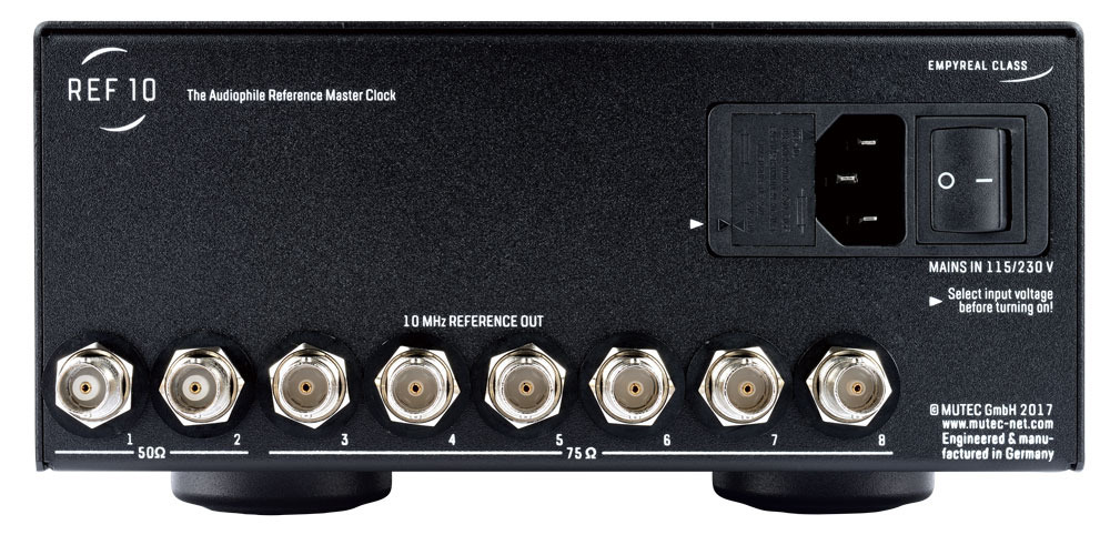 MUTEC - REF10/Black(10Mhzリファレンスクロックジェネレーター)《e》【在庫有り即納】