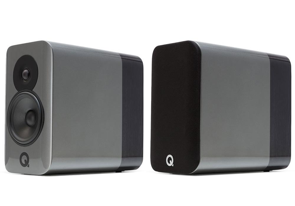Q-Acoustics - Concept 300/シルバー・エボニー(専用スタンド付・ペア)《e》【受注生産品・納期を確認後、ご連絡いたします】
