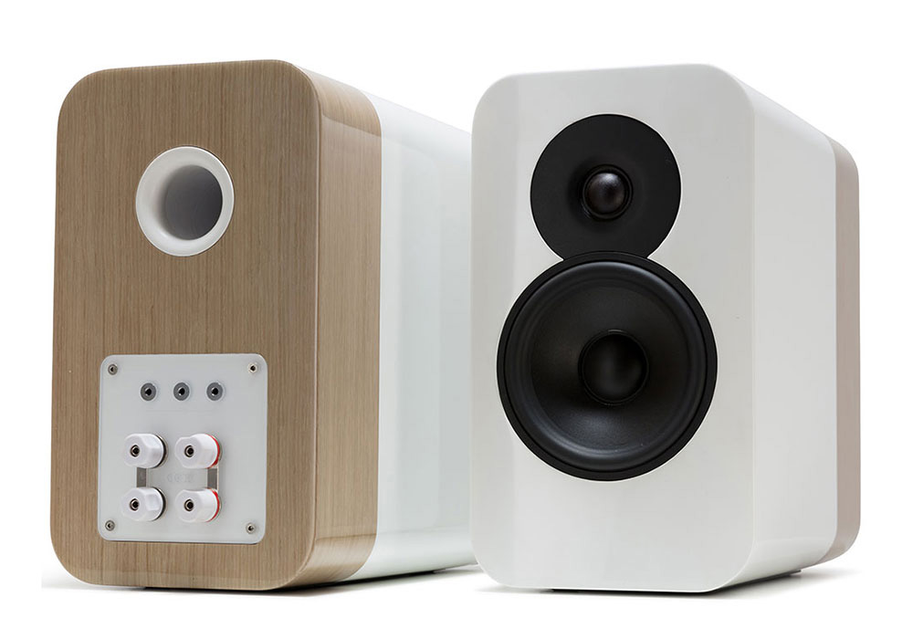 Q-Acoustics - Concept 300/ホワイト・ペールオーク(専用スタンド付・ペア)《e》【受注生産品・納期を確認後、ご連絡いたします】