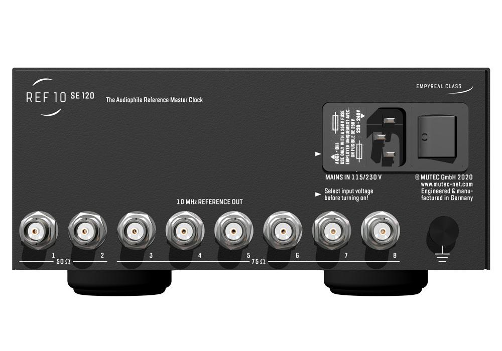 MUTEC - REF10 SE120/Black(10Mhzリファレンス・マスタークロックジェネレーター)《e》【次回3月中旬入荷予定・ご予約受付中】