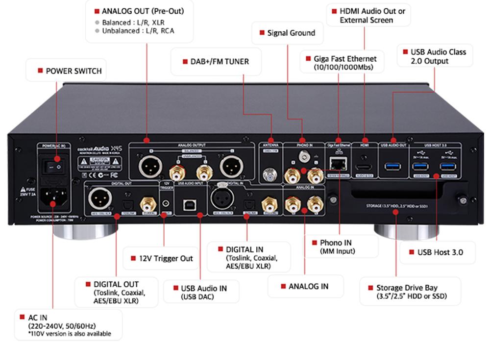 cocktail Audio - X45/ブラック(マルチメディアプレーヤー)《e》【メーカー取寄商品・納期を確認後、ご連絡いたします】