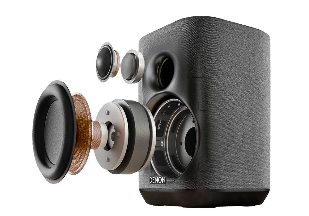 DENON - HOME 150/ブラック(DENONHOME150K)(アンプ内蔵・高音質ステレオネットワークスピーカー)《e》【在庫有り即納】