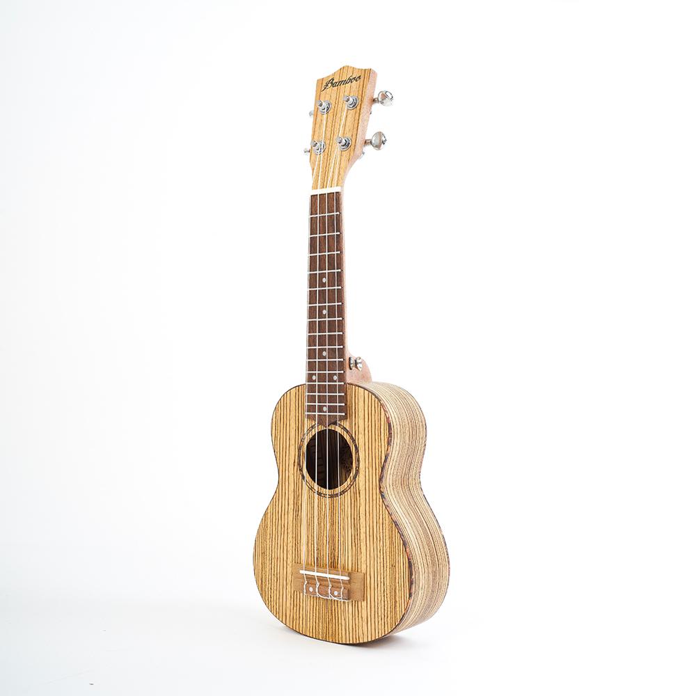Bamboo Ukulele - Zebrano ソプラノウクレレ BU-21CB(ソフトケース付属)《e》【メーカー直送品・1〜2営業日でお届け可能です※メーカー休業日除く】