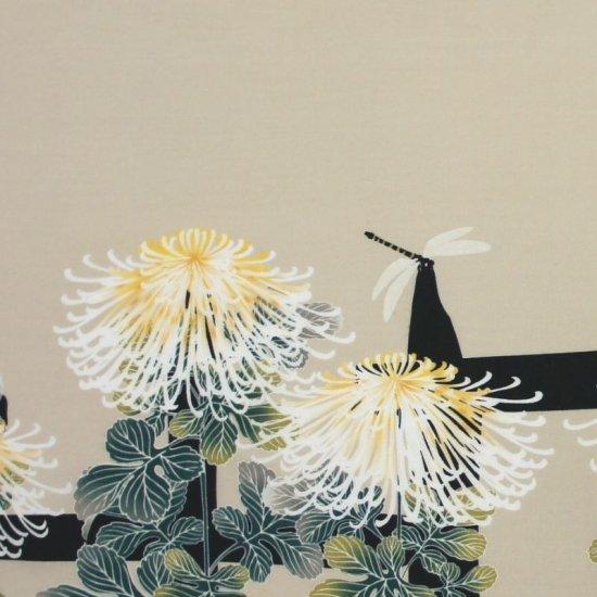 町家手拭 「菊に蜻蛉」