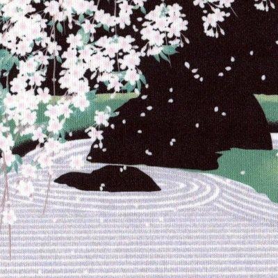 クリーニングクロス(小)「石庭と枝垂れ桜」/退蔵院