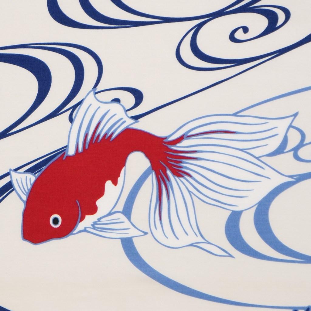 町家手拭  「流水に金魚」
