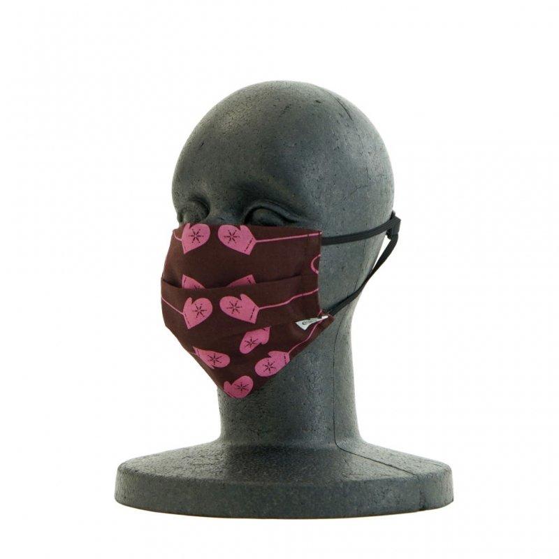 手ぬぐいマスク(二層) 「ミトン」(ピンク)