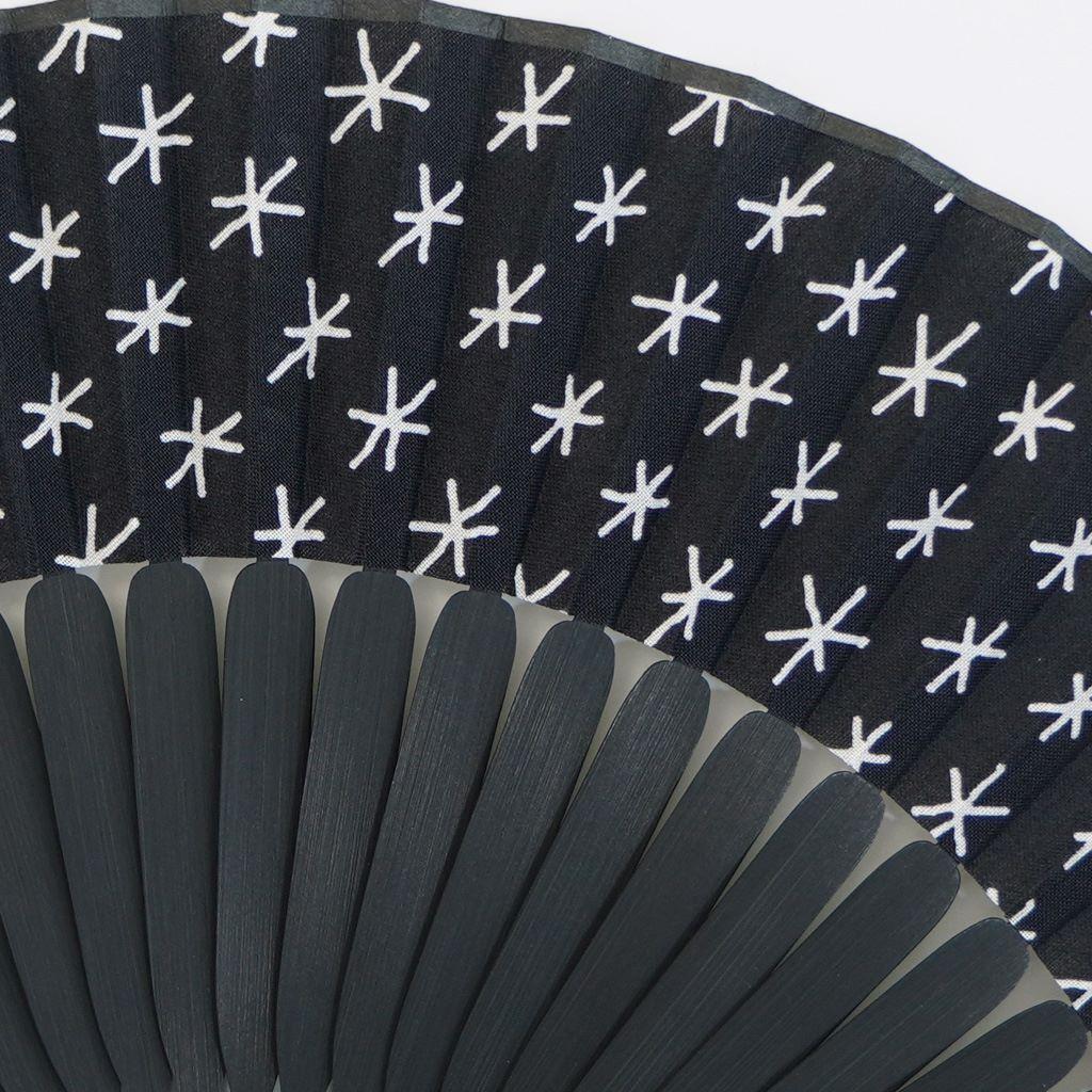 手拭扇子 「印」(化粧箱付)(ブラック)