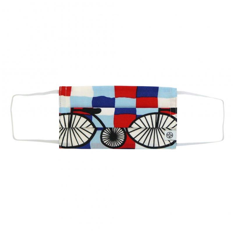 手ぬぐいマスク(二層) 「レトロ自転車」