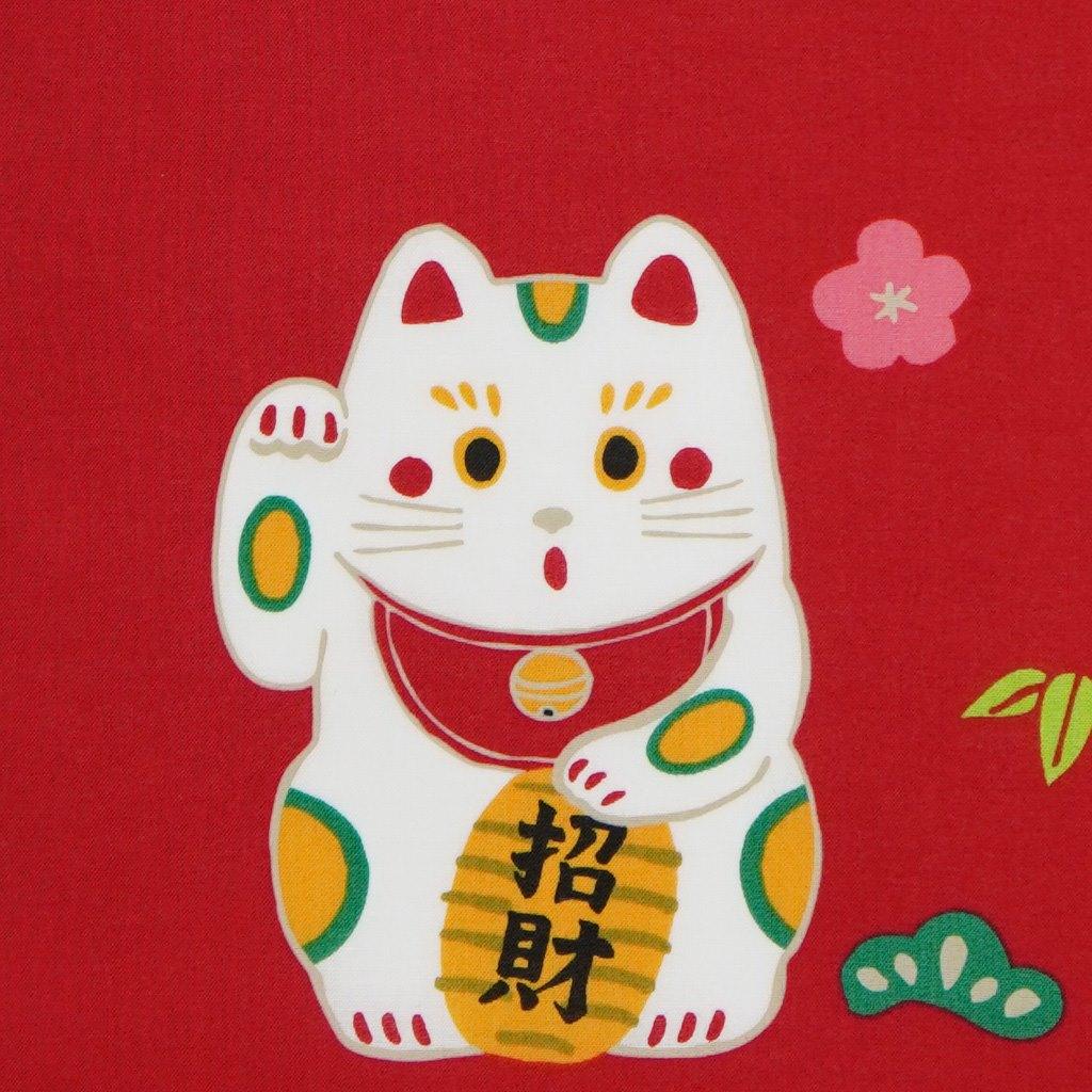 町家手拭 「福福招き猫」