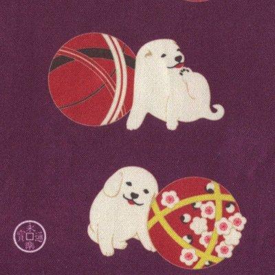 クリーニングクロス(小)「手毬仔犬」