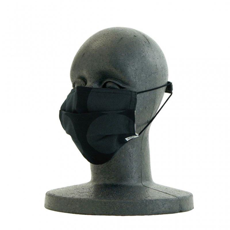 手ぬぐいマスク(三層) 「おだんご」(樂黑 らくろ)