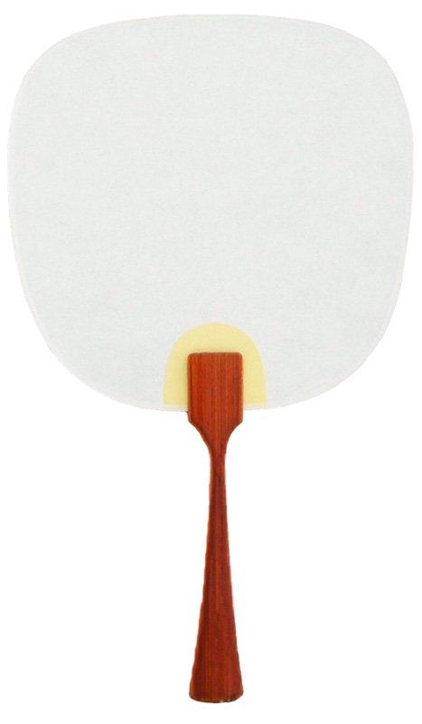 豆うちわ 並型 「影鶴」(ネイビー/グレー)