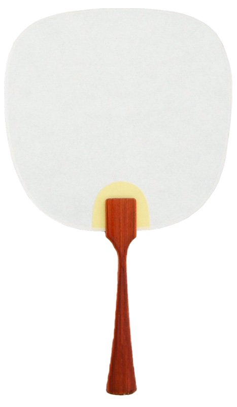 豆うちわ 並型 「紅葉」(オレンジ)