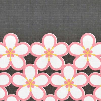 小風呂敷 「帯梅」(グレー/ピンク)