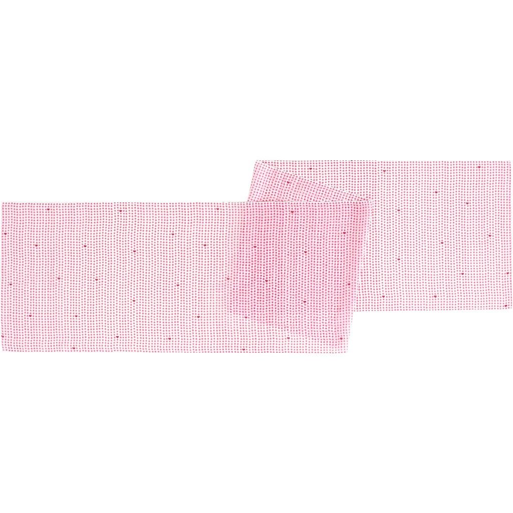 ガーゼ180cm 「豆絞りハート」(ピンク)