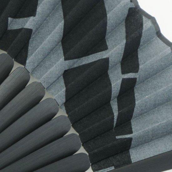 手拭扇子 「竹」(化粧箱付)(ライトグレー/ブラック)