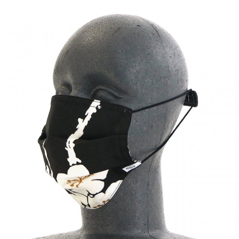 手ぬぐいマスク(三層) 「夜の梅」