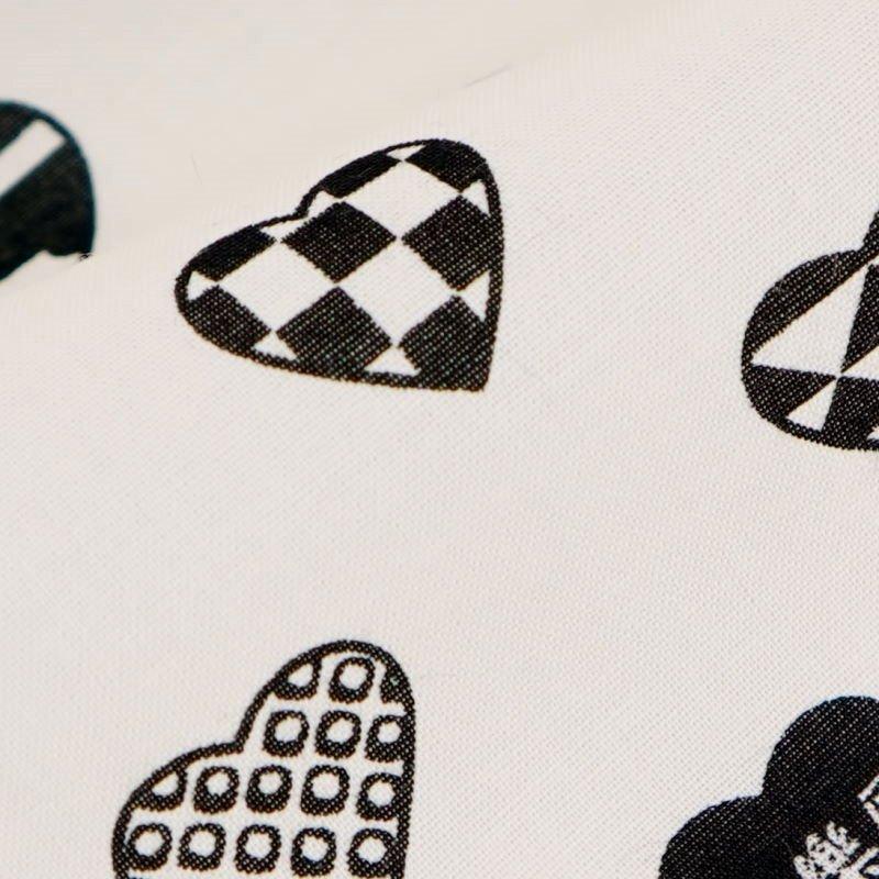 手ぬぐい 「ラブリ紋 横」(ホワイト/ブラック)