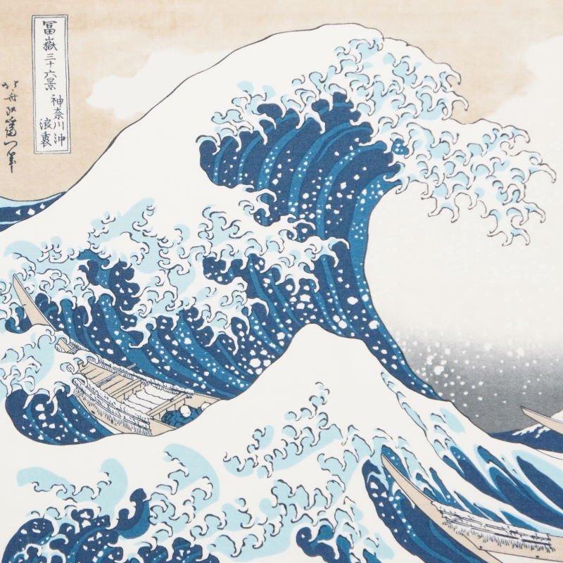町家手拭 「神奈川沖浪裏」