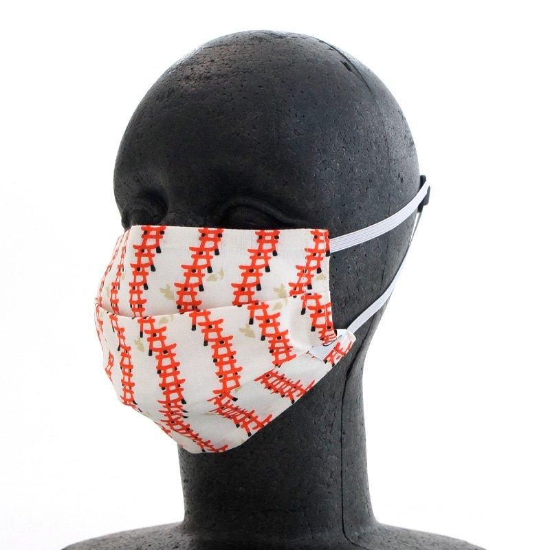 手ぬぐいマスク(二層) 「鳥居」