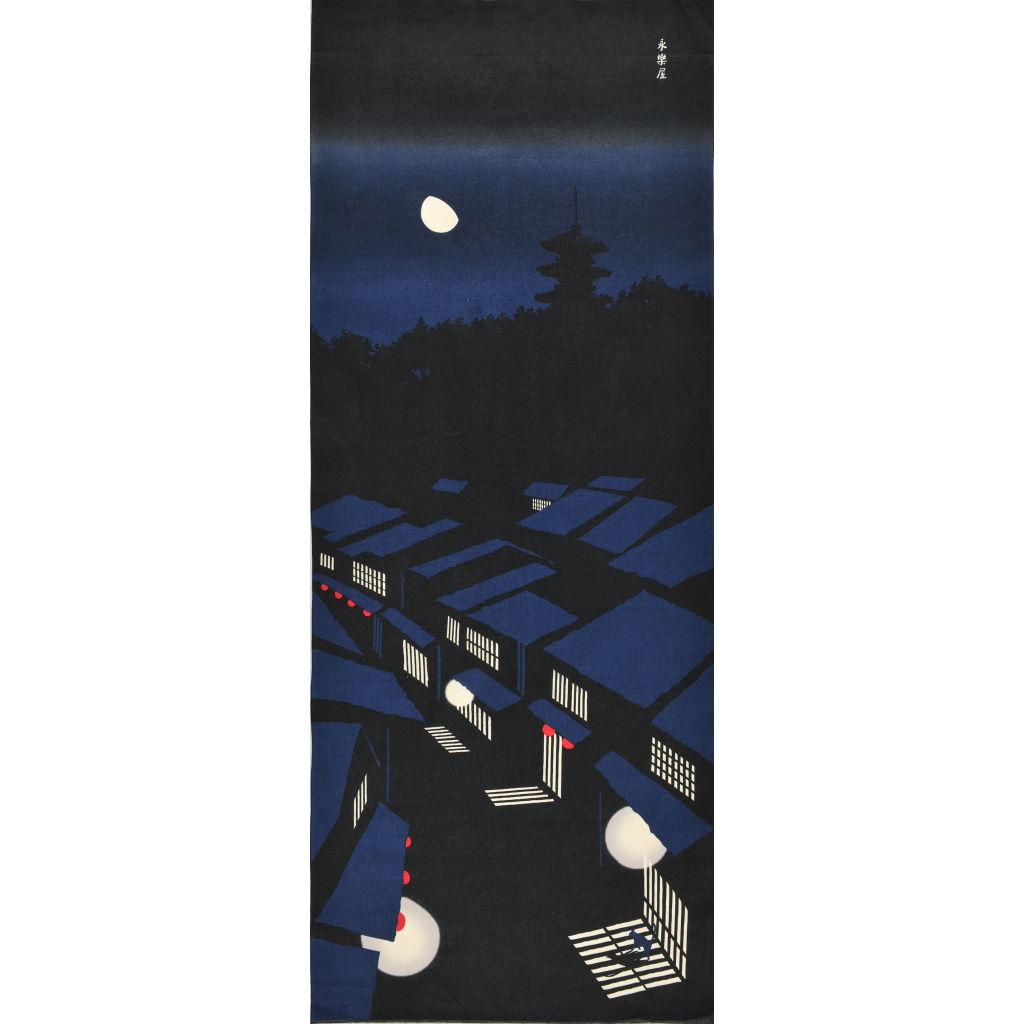 町家手拭 「夜景」