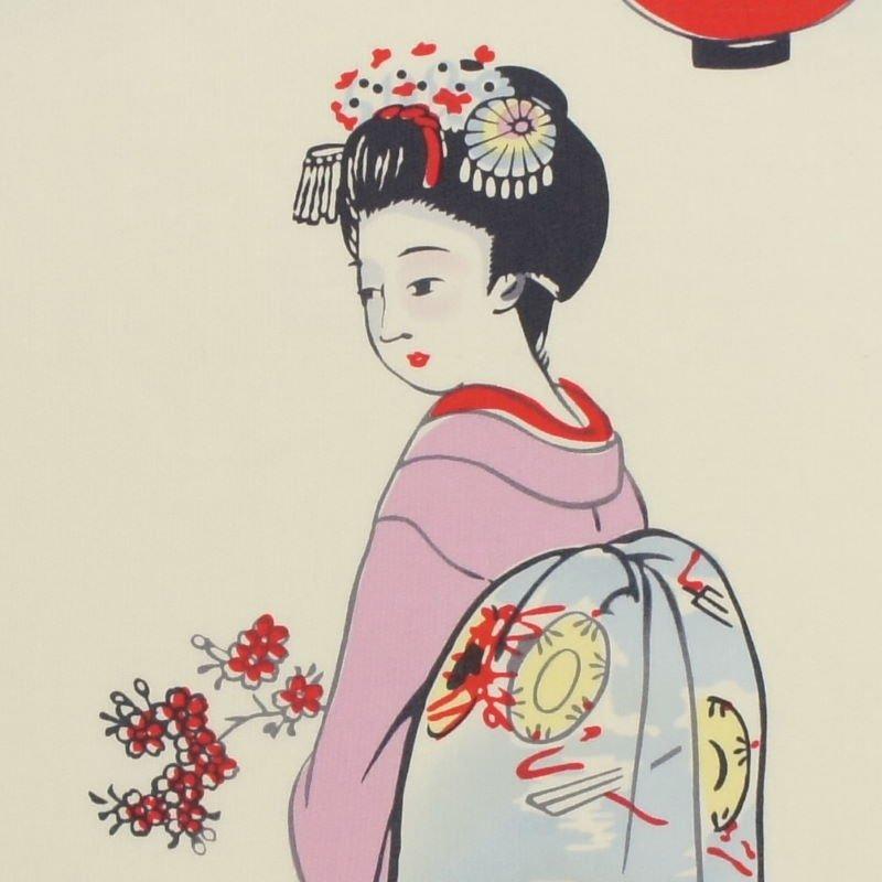 町家手拭 京の年中行事三月「祇園都踊り」