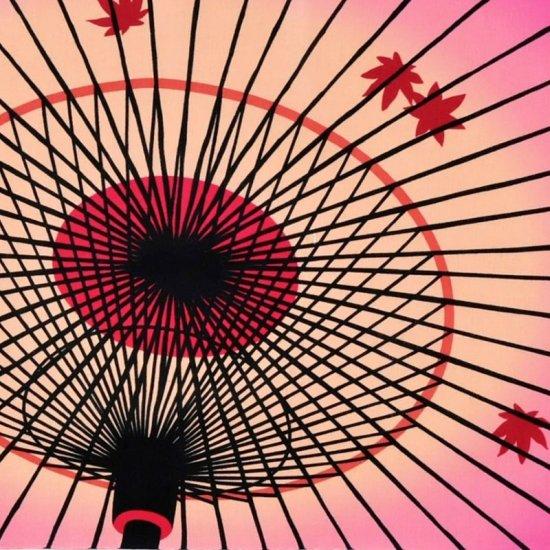 町家手拭 「傘に紅葉(もみじ)」