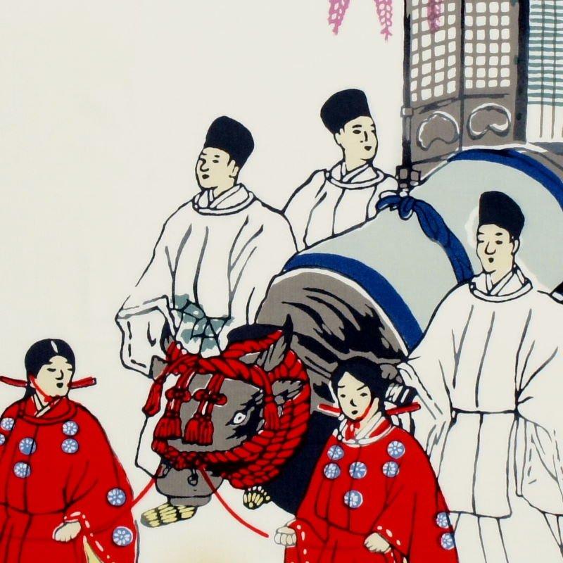 町家手拭 京の年中行事五月「葵祭り」