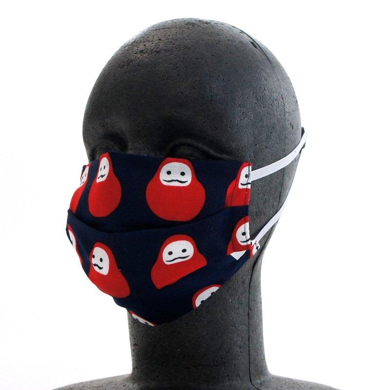 手ぬぐいマスク(二層) 「だるま」