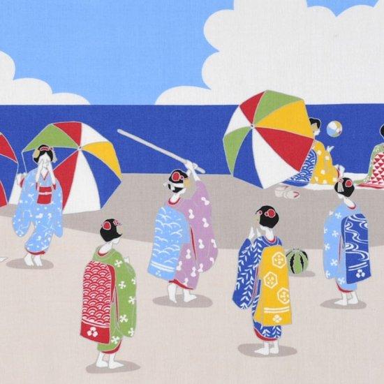 町家手拭 「舞妓さんたちの海」
