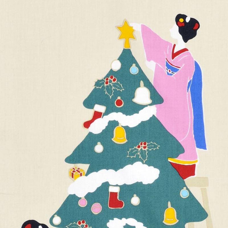 町家手拭 「舞妓さんのクリスマス」