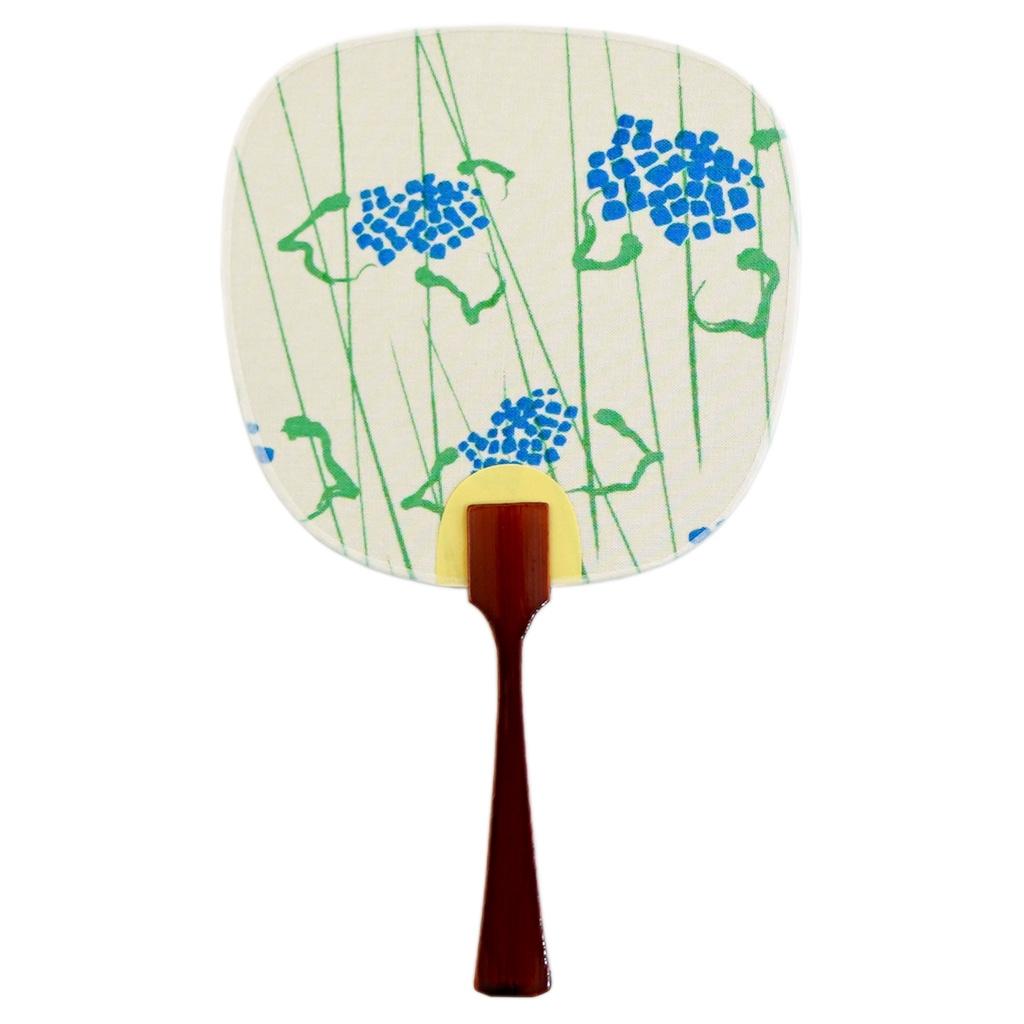 豆うちわ 並型 「紫陽花」(ブルー)