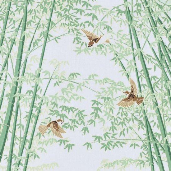 町家手拭 「竹林に雀」