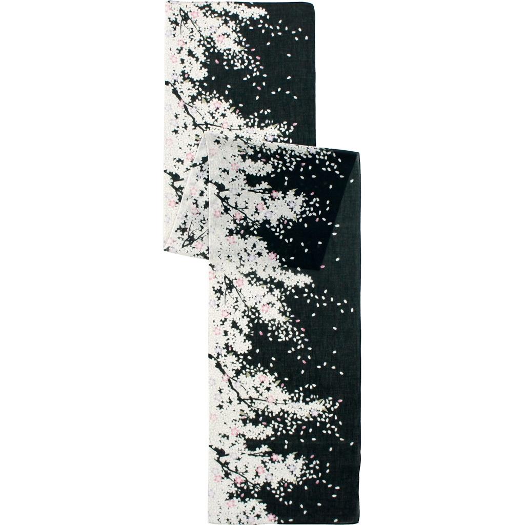 ガーゼ180㎝ 「舞桜」(ブラック/オフ)